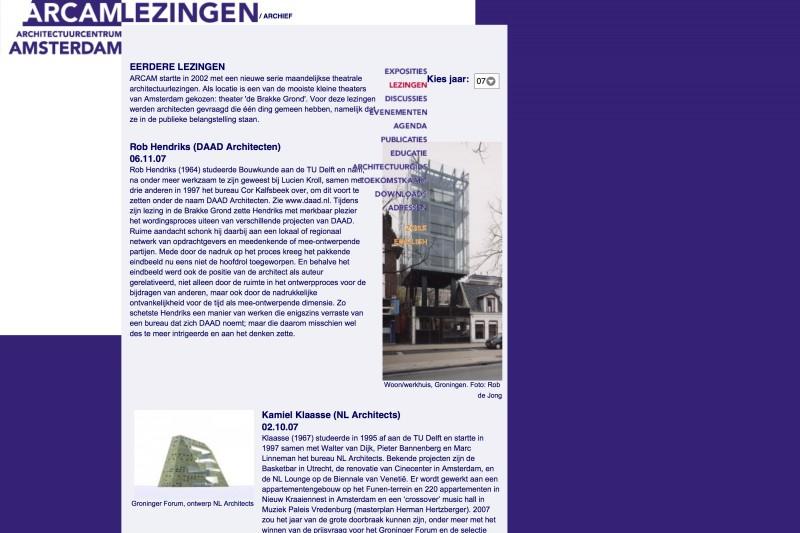 ARCAM _ architectuurcentrum amsterdam